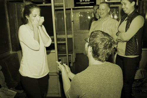 Man proposes at Escape Artistry private party