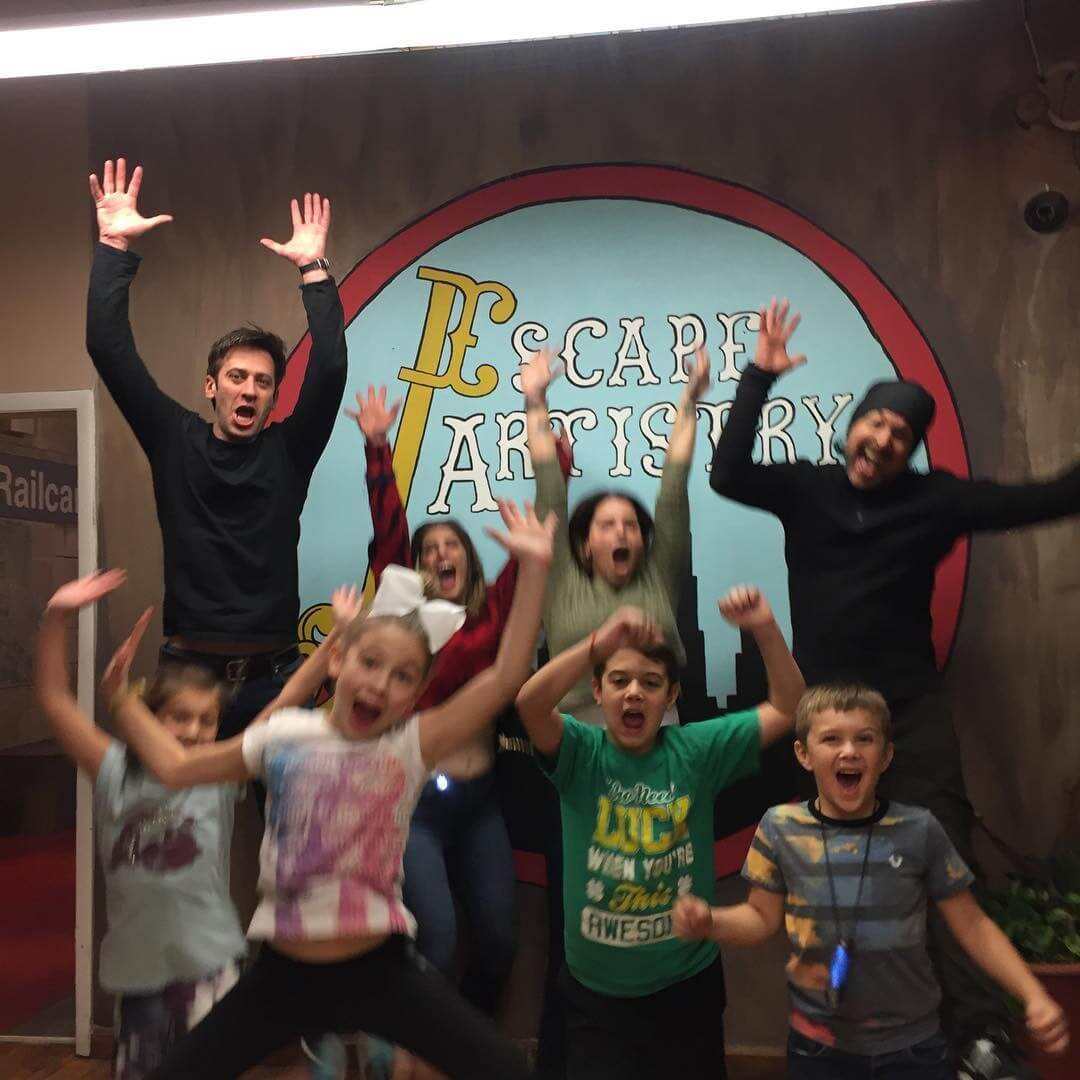 Children's private birthday parties held at Escape Artistry