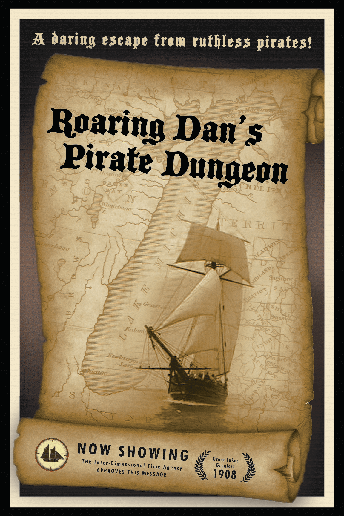 Roaring Dan's Pirate Dungeon Poster
