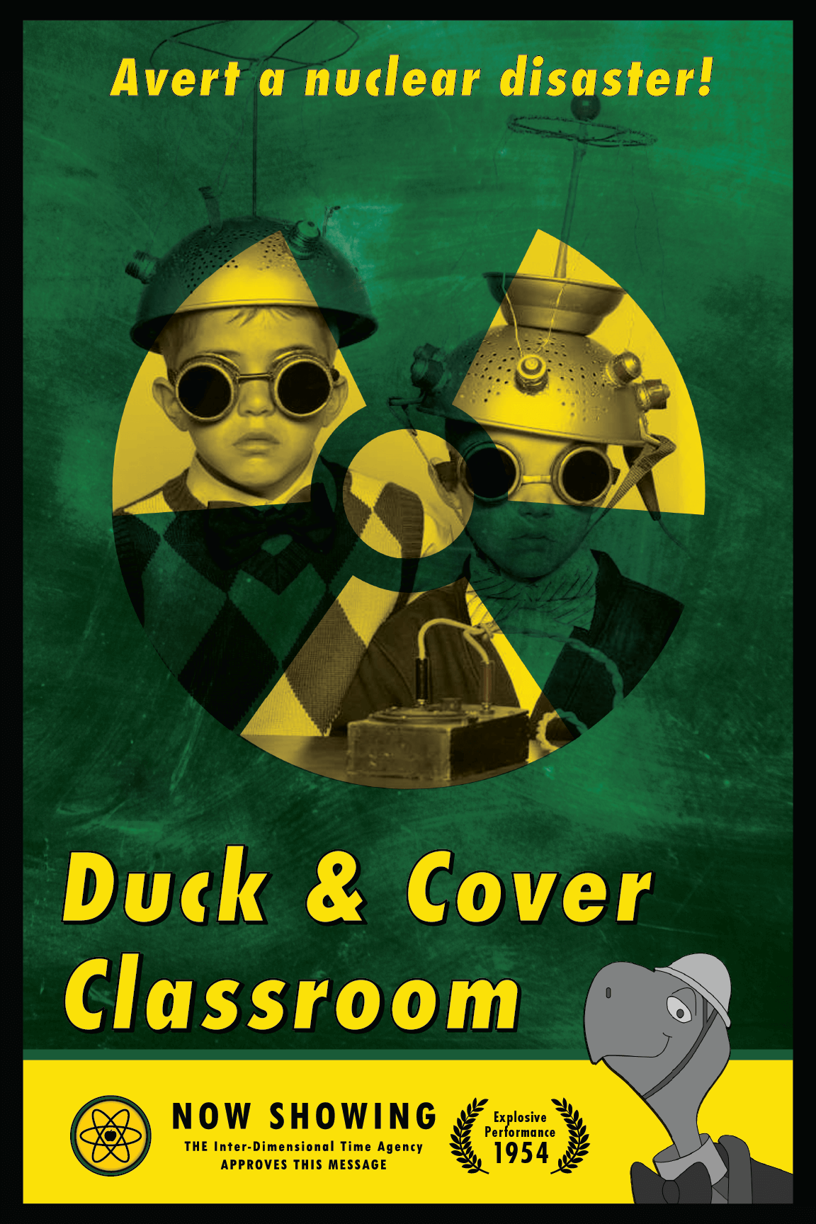 Duck & Cover Classroom Poster